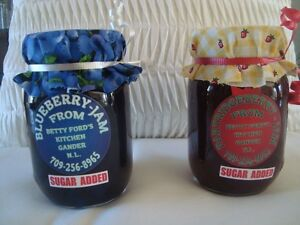 Blueberry and partridgeberry jam