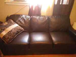 Faux leather couch mint condition