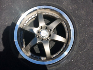 "Selling 17"" rims with 3 tires for $150"