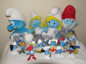 FOR SALE A LOT OF SMURFS TOYS, PLUSH, BACKPINS +++