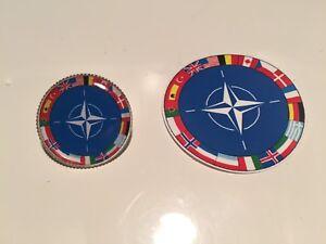 NATO Badge 'North Atlantic Treaty Organization' + Sticker