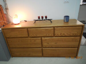 3 OAK Solid Wood dressers for sale