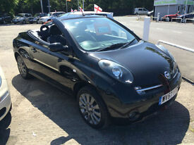 57 REG Nissan Micra C+C 1.6 ESSENZA BLACK CONVERTIBLE
