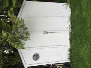 6 x 8 wooden garden shed