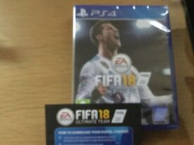 FIFA 18 PS4 still sealed comes with download code for ultimate team