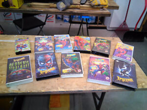 12 Spiderman VHS Movies