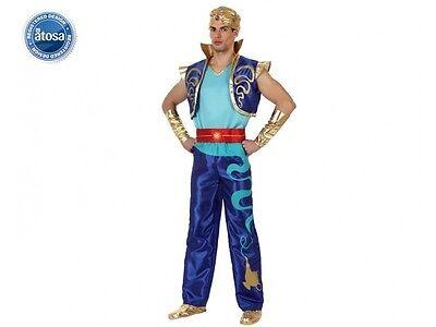 Kostüm Herren Genie Blau Aladin M/L Erwachsene Zeichnung - Genie Kostüm Erwachsene