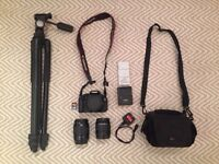 Canon 600D, 18-55mm, 80-200mm & accessories