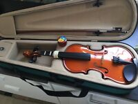 3/4 violin and carry case