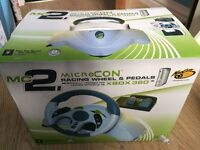 Xbox 360 Racing Wheel and Pedals