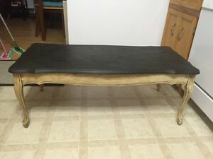 Beautifully refinished antique coffee table and end table