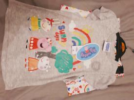 Peppa Pig top/shorts set