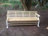 TIMBER BENCH WITH BRACKET LEGS
