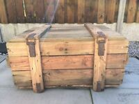 Old Wooden trunk Chest flower box