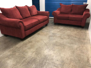 Red Couch SET   -  Delivery