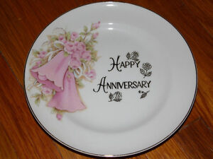 Two SAJI Fine China Japan. Anniversary Plates