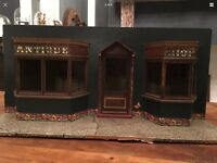Antique Shop Model Dolls House Hand Made Curio Display Piece Great Look Vintage