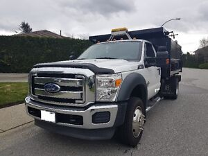 2011 F550 Super Duty XLT - 11ft Dump with Split Gate