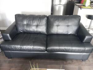 Sofa bed in Leather, Sofa-lit en cuir