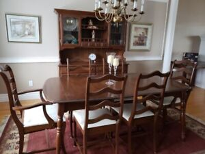 10 pc. Solid Cherrywood Dining Room Set