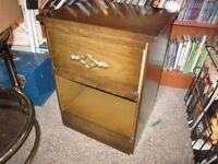 Wood Night Stand With Pull Out Drawer For Sale