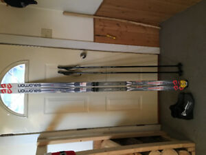 Salomon cross country skis poles boots