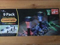 Solar garden lights (brand new, still in box)