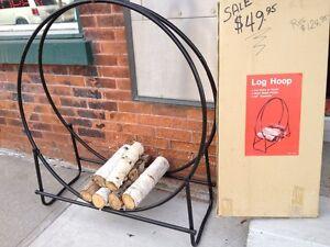 Hoop  firewood holders