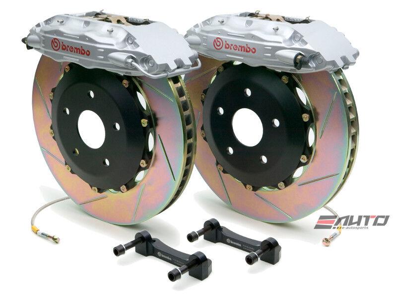 Brembo Rear Gt Big Brake Bbk 4pot Silver 332x32 Slot Disc 348 89-93 F335 94-99