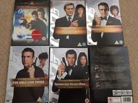 Bond movies DVD selection - great condition