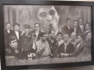 Framed Gangster Collage Photo
