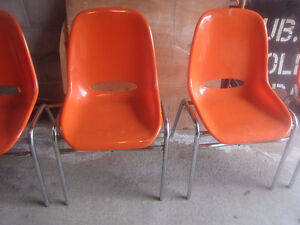 Mid Century Modern Eames Style Molded Chairs