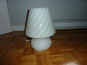 Lampe champignon style murano