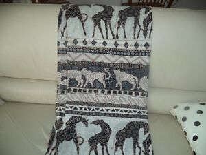 Animal print cloth shower curtains