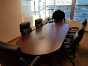 Like new boardroom table with built-in power outlets
