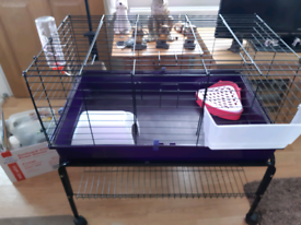 Small animal cage and stand and accessories