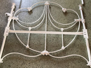 2 Twin wrought iron bed headboard and footboard. Each  $300