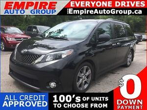 2013 TOYOTA SIENNA SE * LEATHER/CLOTH * REAR CAM * SUNROOF * 8 P