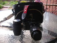 35mm Pentax camera and lenses