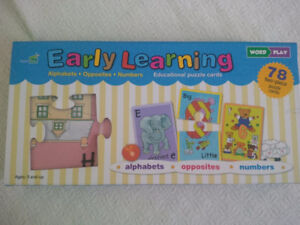 Early Learning Puzzle Cards