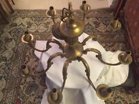 8 arm solid brass chandelier NO PAYPAL