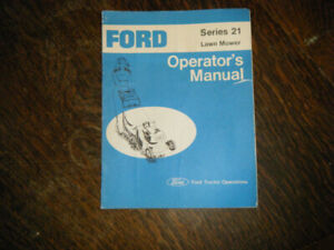 Ford Series 21 Lawn Mower Operators Manual