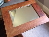 Wooden framed mirror (small)