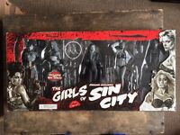 Sin city Figures Rare Neca box set girls of sin city movie action figures collectable 2005 movie toy