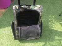 Dog/Cat, carrier, trolley, backpack, green camouflage design