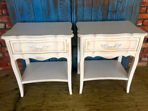 Set of 2 French Provincial Side Tables