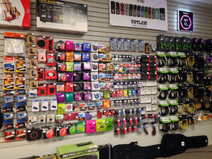 Large selection of accessories at Ardens Music Kingston