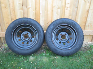2  FORD FOCUS, FIESTA  RIMS AND SNOW TIRES  P195/65/R15 Kitchener / Waterloo Kitchener Area image 1
