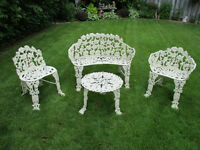 Steel Metal DECORATIVE LAWN FURNITURE DISPLAY - Chairs & Table