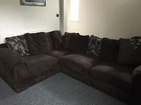 Chocolate Brown Corner Couch